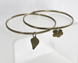 Soldered Gold-Filled Bangle with Custom Charm  Workshop