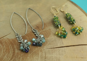 Crystal Cascade Earrings Workshop